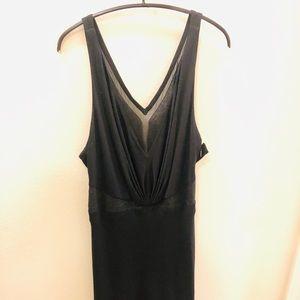 Versace black low cut midi dress sz 44
